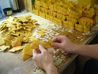 Contracted processing-Gold paper processing